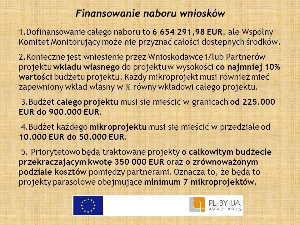 Finansowanie naboru wniosków