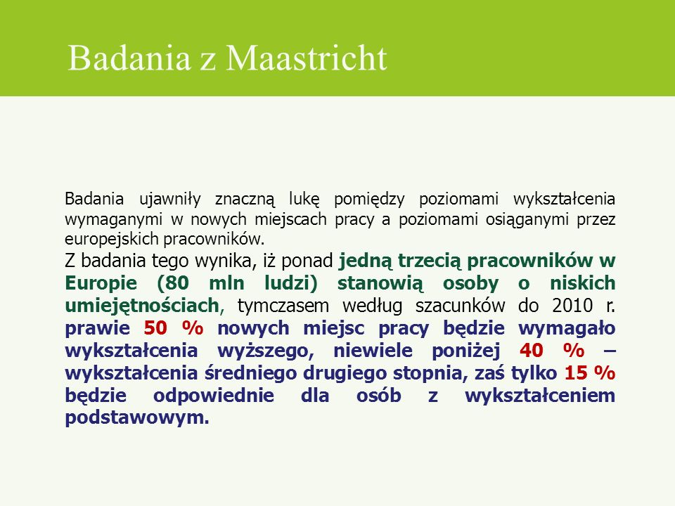 Badania z Maastricht