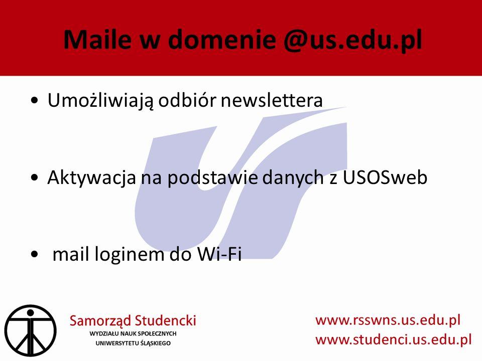 Maile w domenie @us.edu.pl
