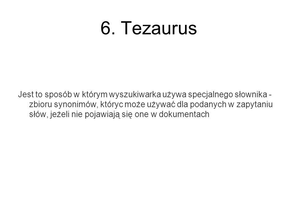 6. Tezaurus