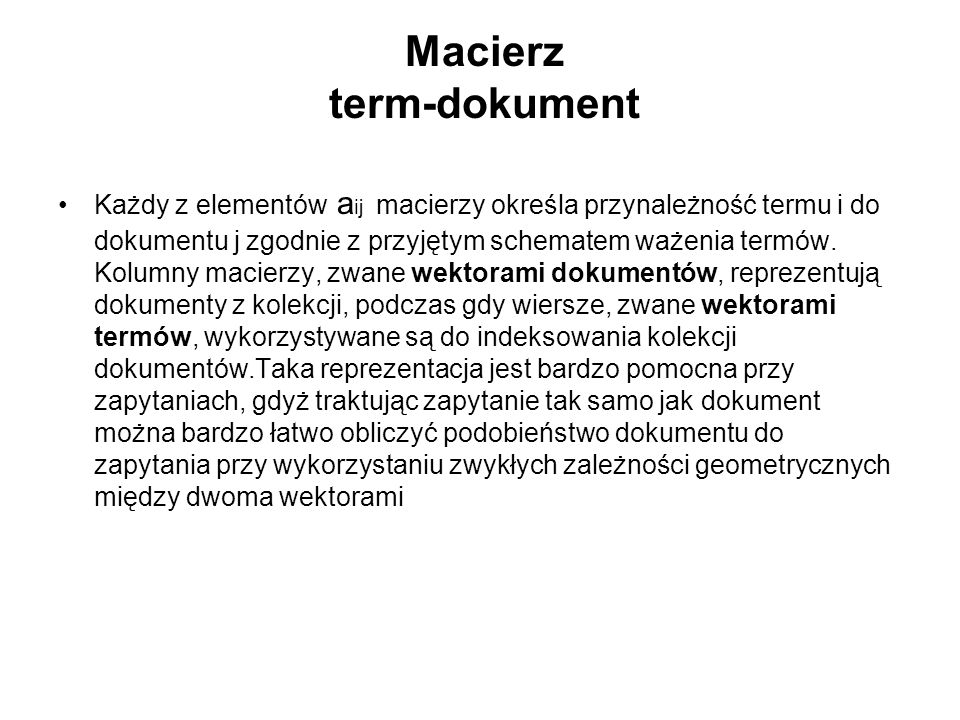 Macierz term-dokument