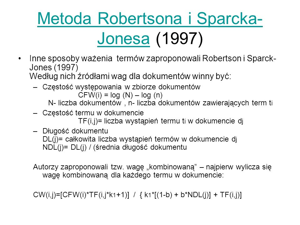 Metoda Robertsona i Sparcka-Jonesa (1997)