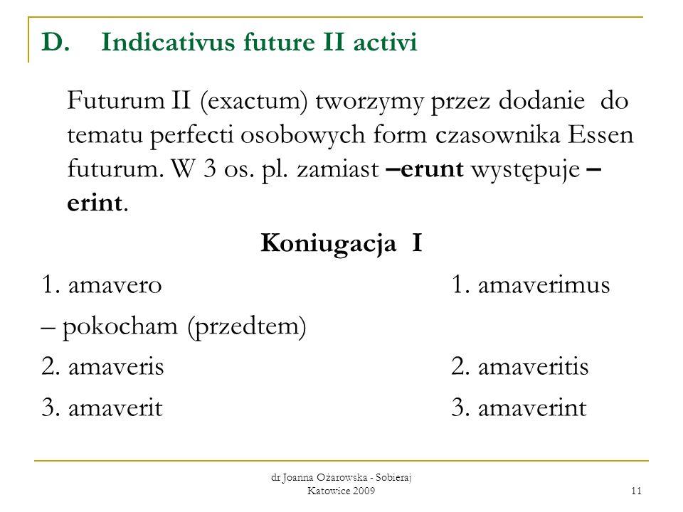 Indicativus future II activi