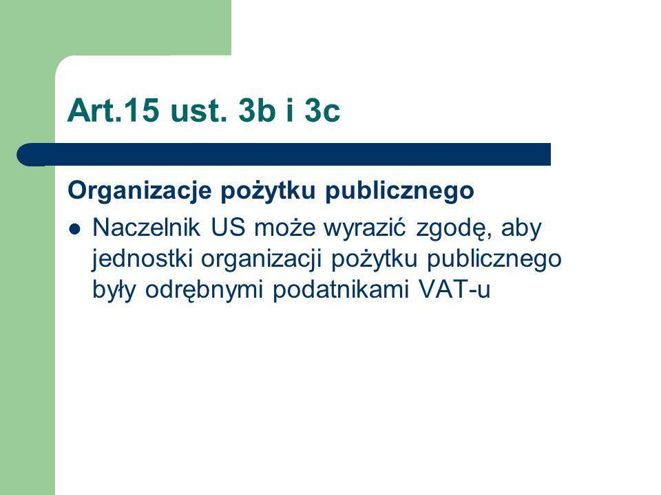 Art.15 ust. 3b i 3c Organizacje pożytku publicznego