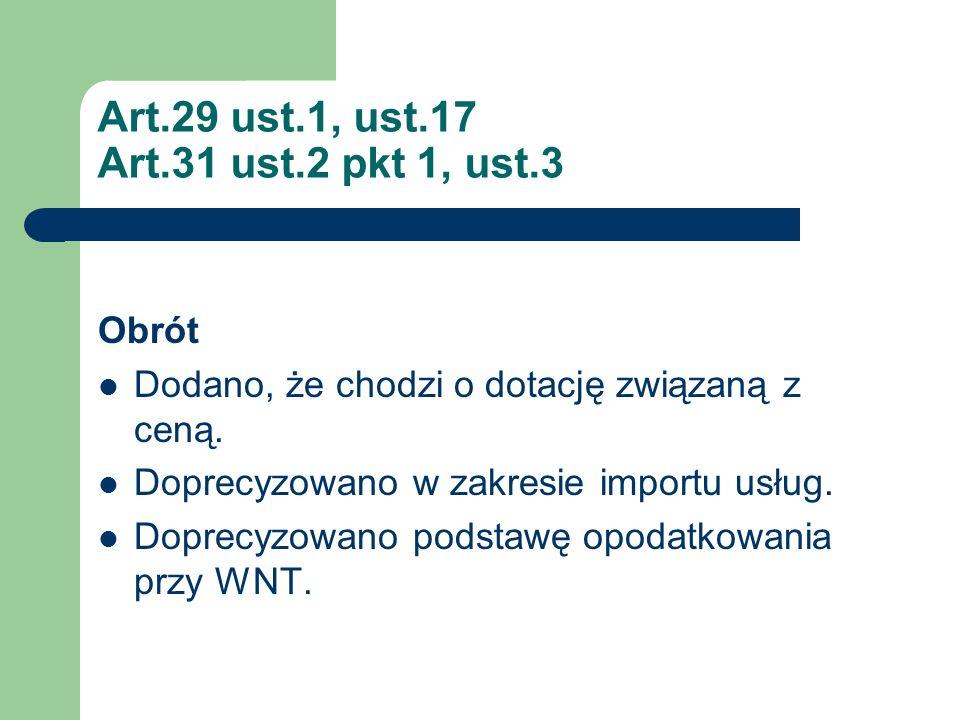 Art.29 ust.1, ust.17 Art.31 ust.2 pkt 1, ust.3