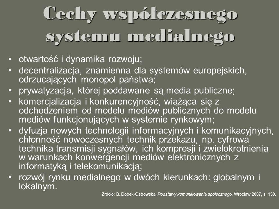 Cechy współczesnego systemu medialnego