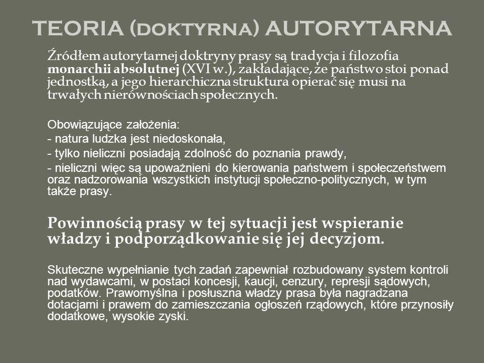 TEORIA (doktyrna) AUTORYTARNA