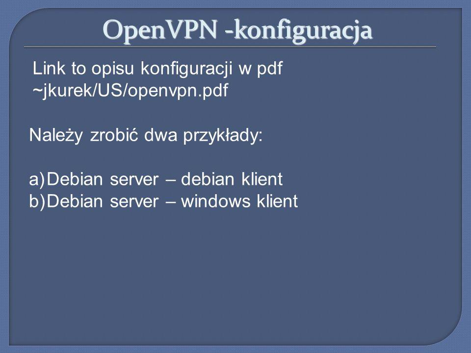 OpenVPN -konfiguracja