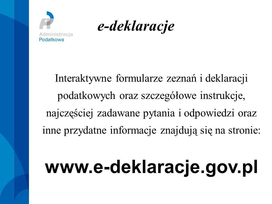 www.e-deklaracje.gov.pl e-deklaracje