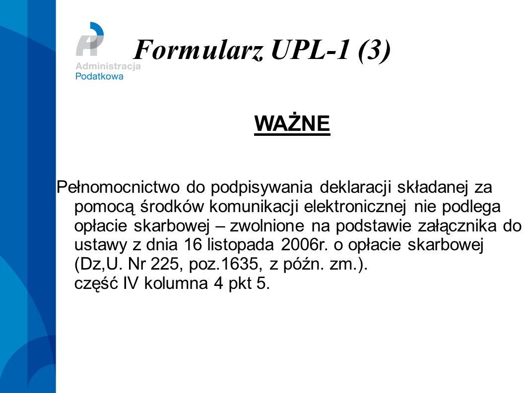 Formularz UPL-1 (3) WAŻNE