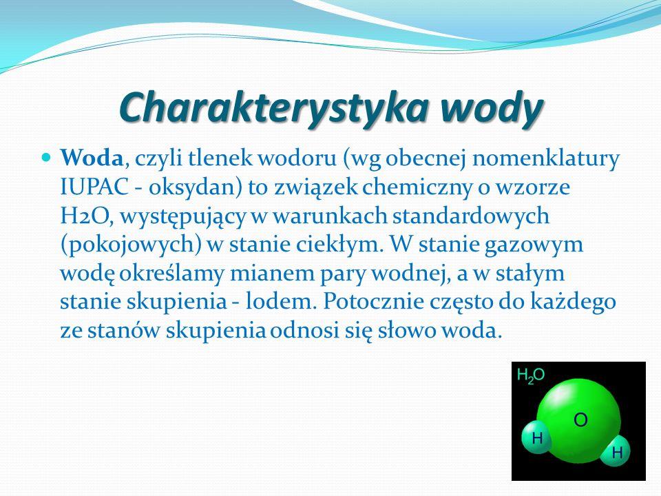 Charakterystyka wody
