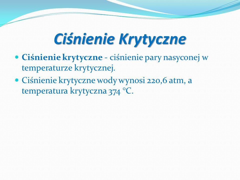 Ciśnienie KrytyczneCiśnienie krytyczne - ciśnienie pary nasyconej w temperaturze krytycznej.