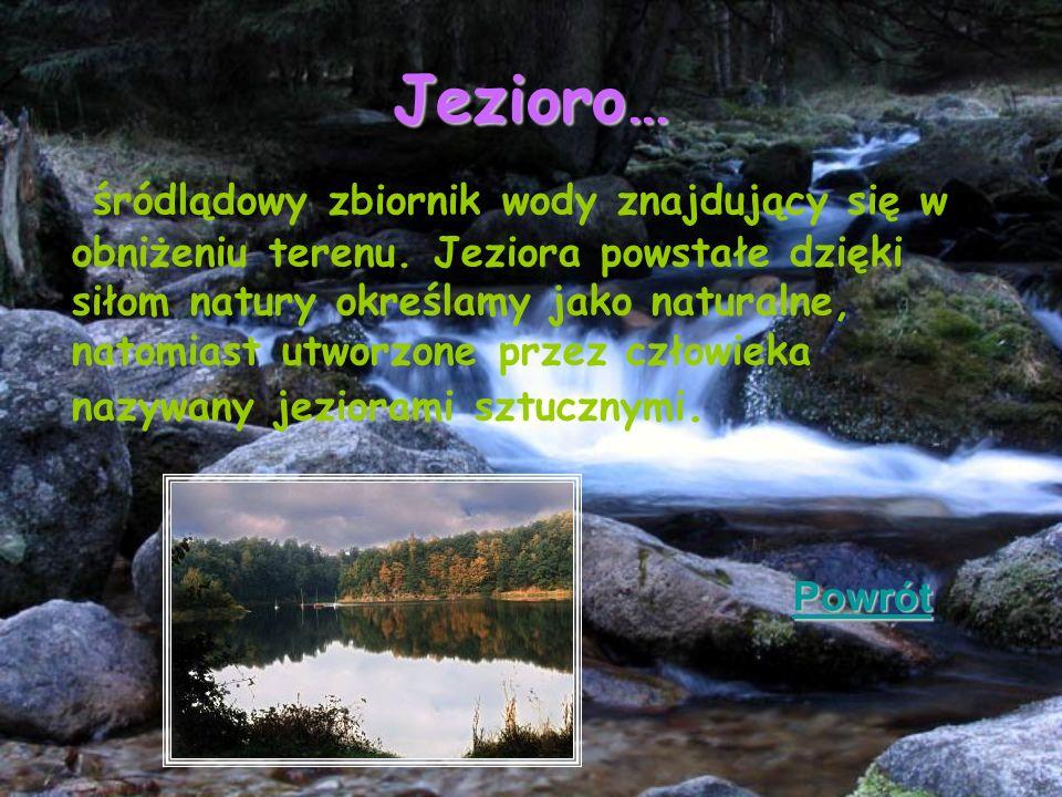 Jezioro…