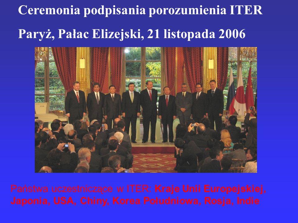 Ceremonia podpisania porozumienia ITER