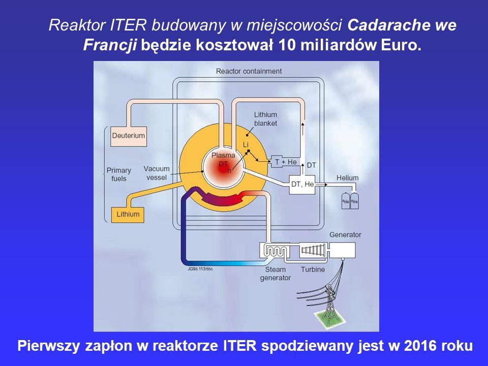 Reaktor ITER budowany w miejscowości Cadarache we Francji będzie kosztował 10 miliardów Euro.