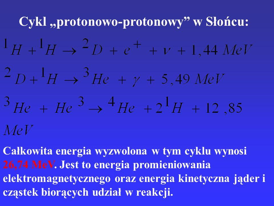 """Cykl """"protonowo-protonowy w Słońcu:"""