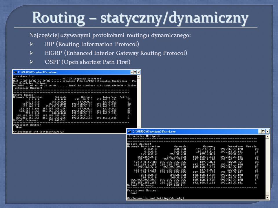 Routing – statyczny/dynamiczny