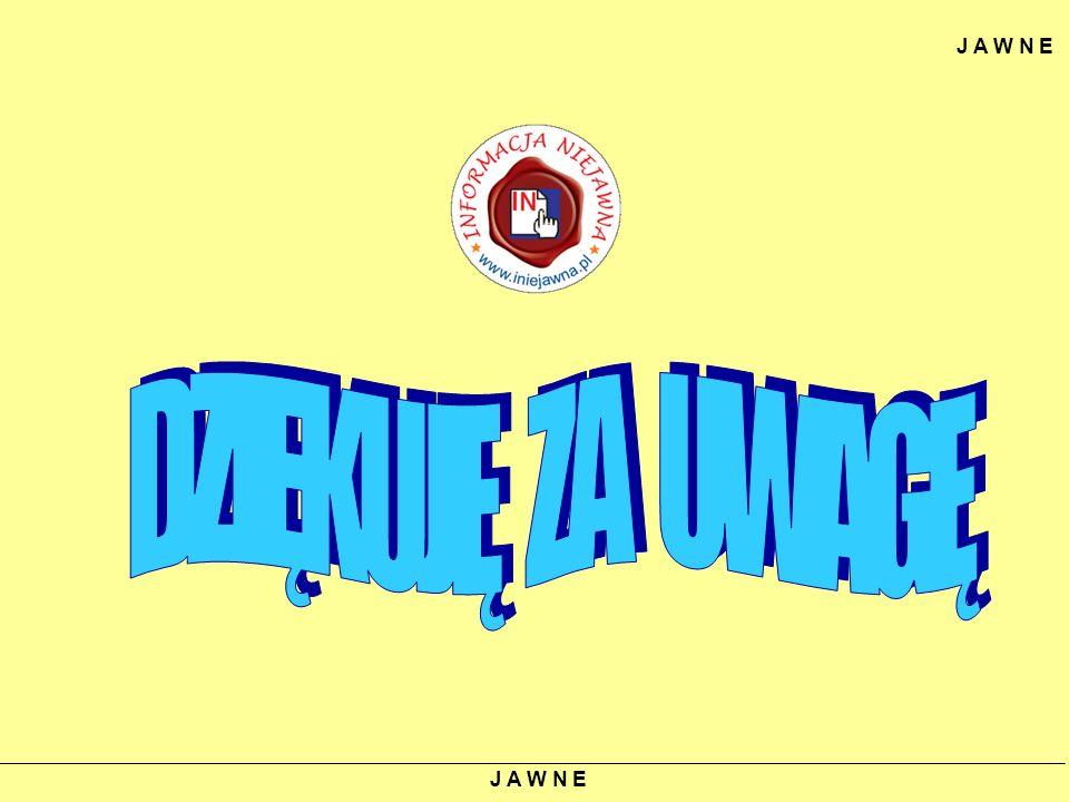 J A W N E DZIĘKUJĘ ZA UWAGĘ J A W N E