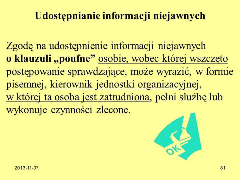Udostępnianie informacji niejawnych