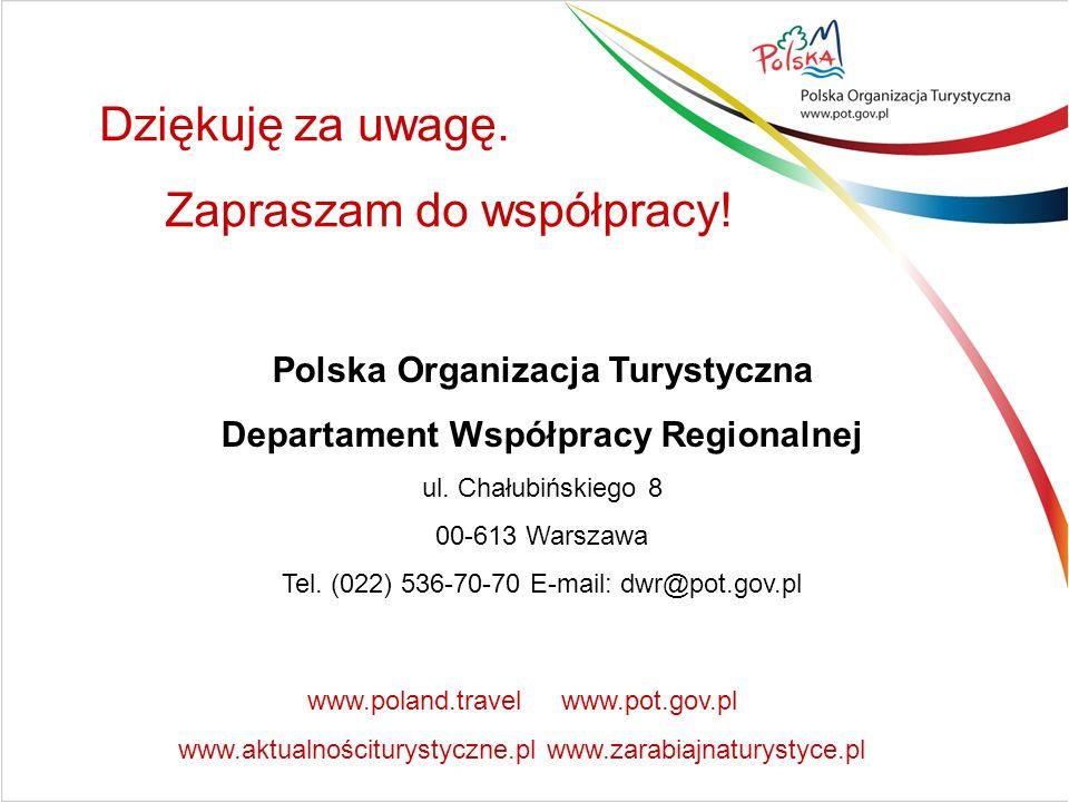 Polska Organizacja Turystyczna Departament Współpracy Regionalnej