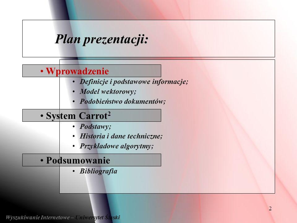 Wyszukiwanie Internetowe – Uniwersytet Śląski