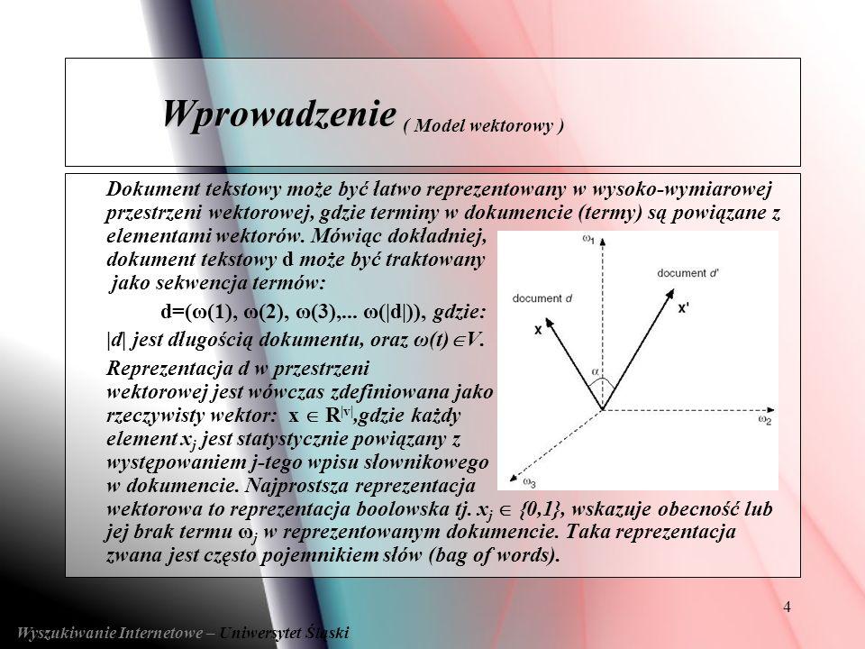 Wprowadzenie ( Model wektorowy )