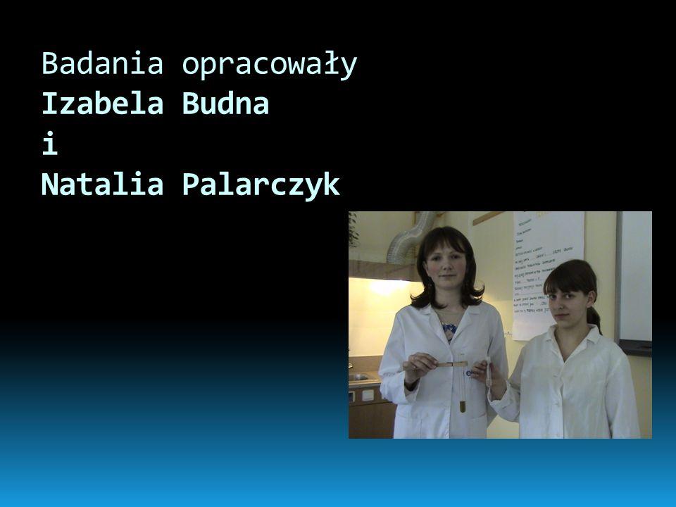 Badania opracowały Izabela Budna i Natalia Palarczyk