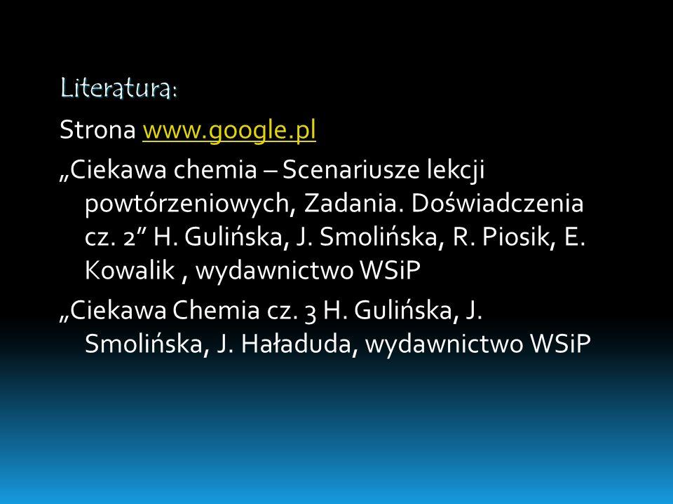 Literatura:Strona www.google.pl.