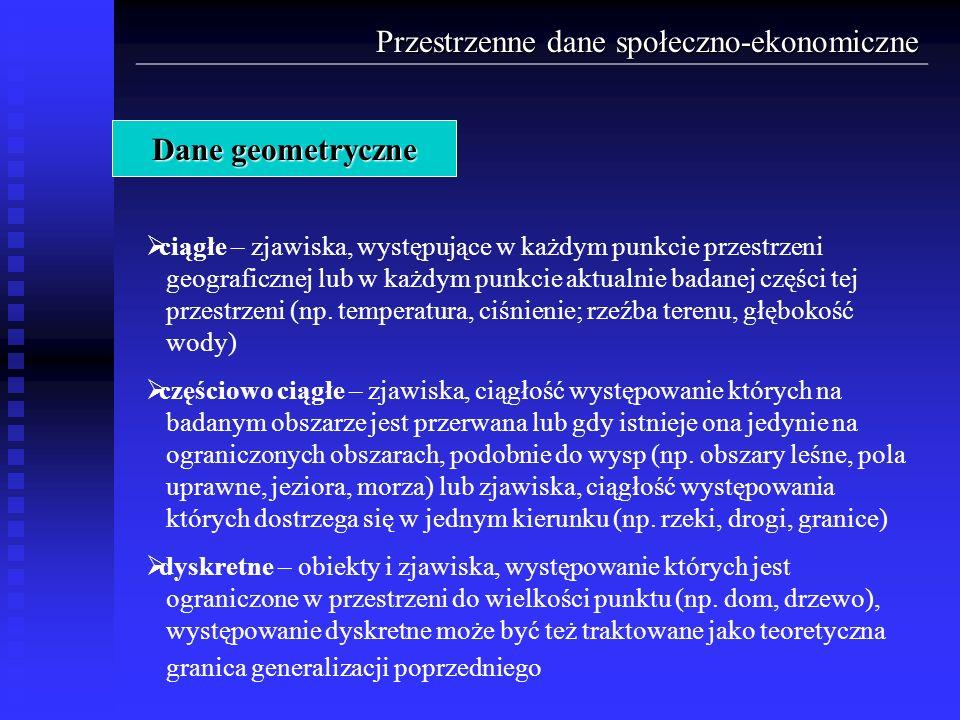 Przestrzenne dane społeczno-ekonomiczne