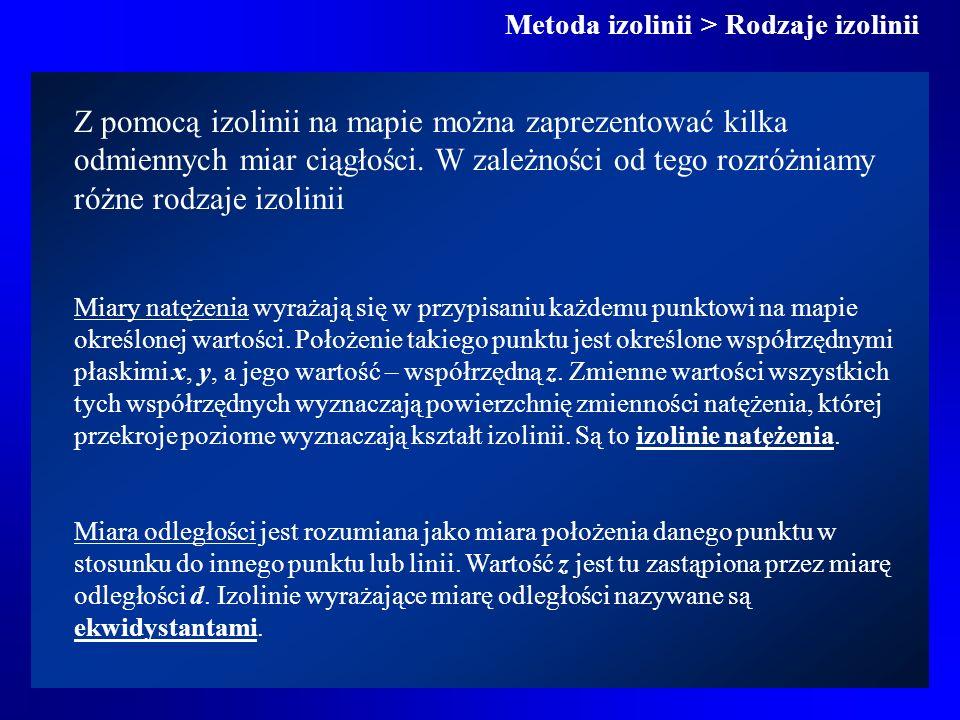 Metoda izolinii > Rodzaje izolinii
