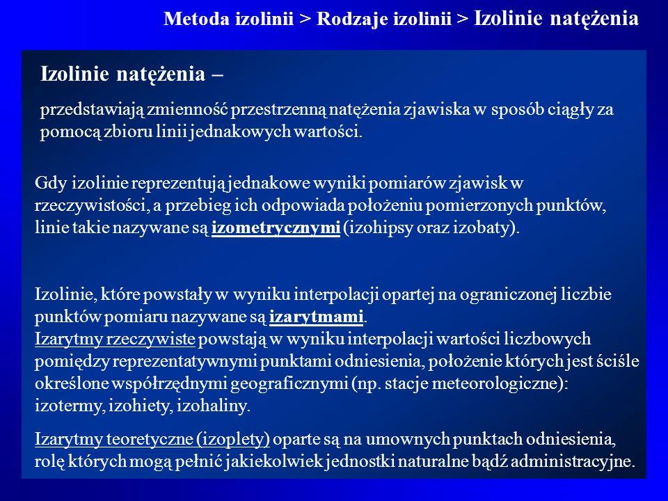 Metoda izolinii > Rodzaje izolinii > Izolinie natężenia
