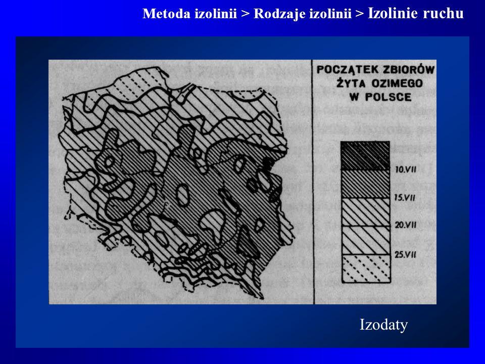 Metoda izolinii > Rodzaje izolinii > Izolinie ruchu