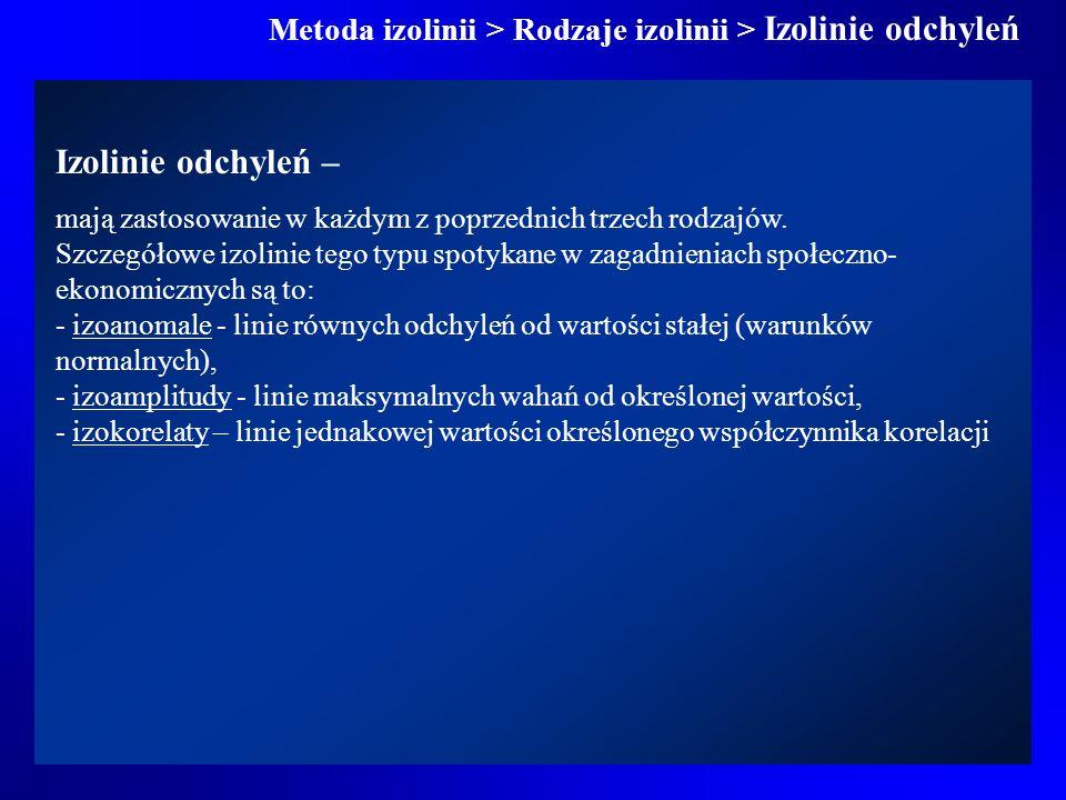 Metoda izolinii > Rodzaje izolinii > Izolinie odchyleń