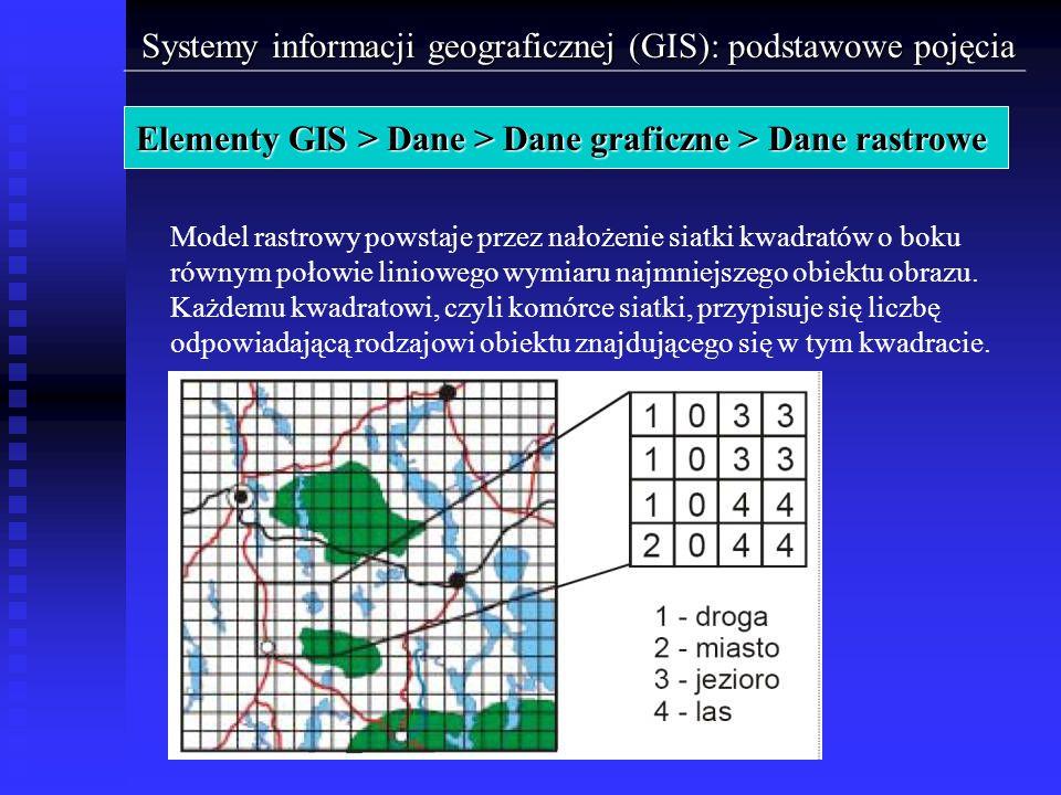 Elementy GIS > Dane > Dane graficzne > Dane rastrowe