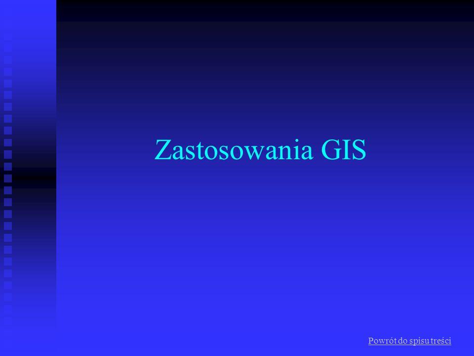 Zastosowania GIS Powrót do spisu treści