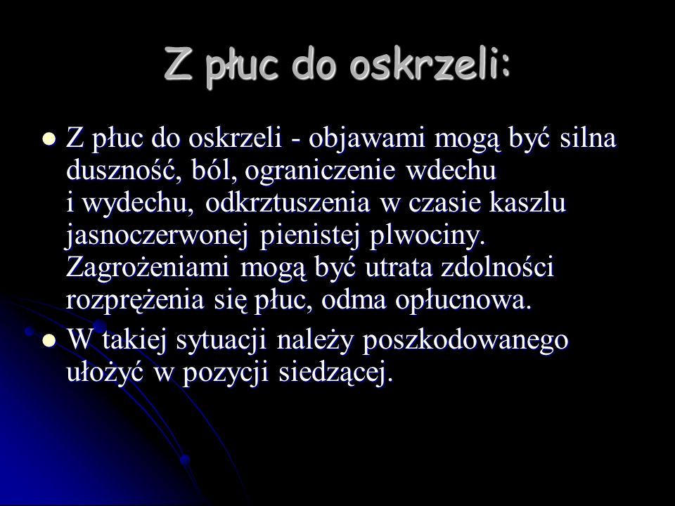 Z płuc do oskrzeli: