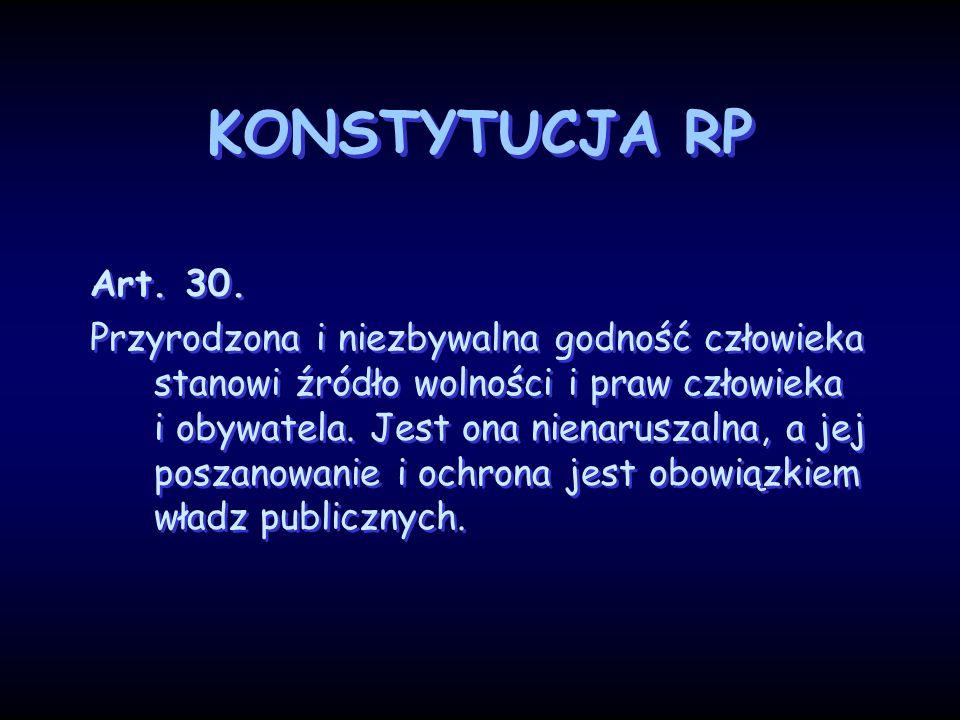 KONSTYTUCJA RP Art. 30.