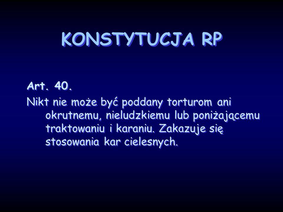 KONSTYTUCJA RP Art. 40.