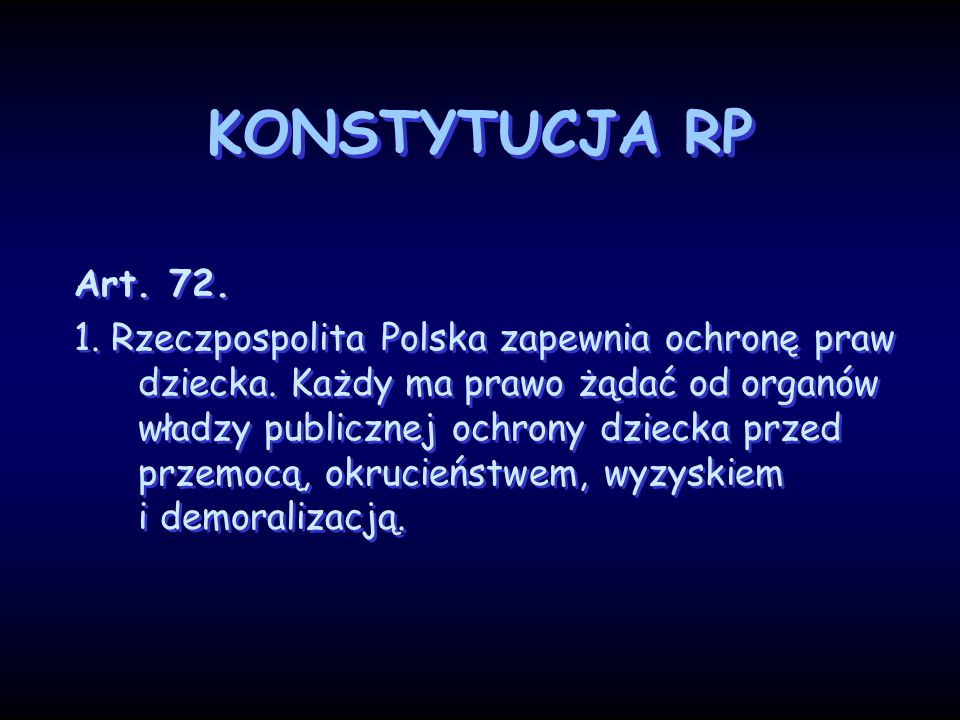 KONSTYTUCJA RPArt. 72.