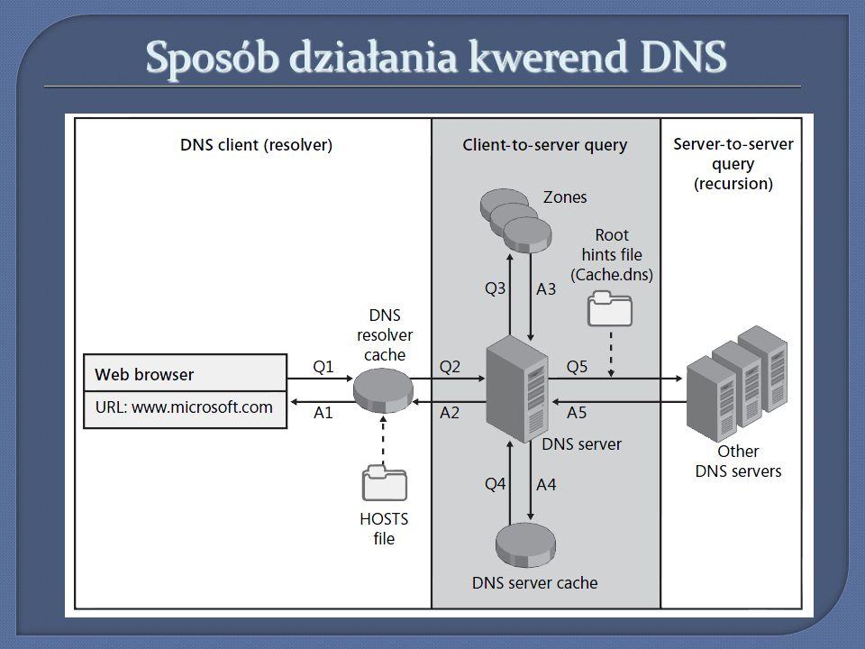 Sposób działania kwerend DNS
