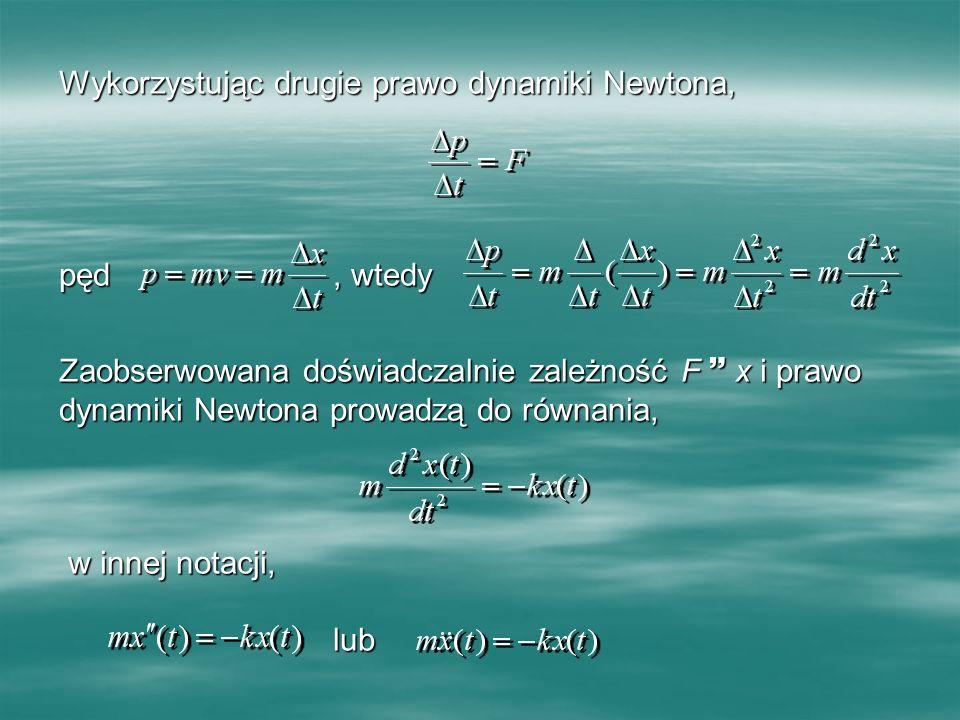 Wykorzystując drugie prawo dynamiki Newtona,