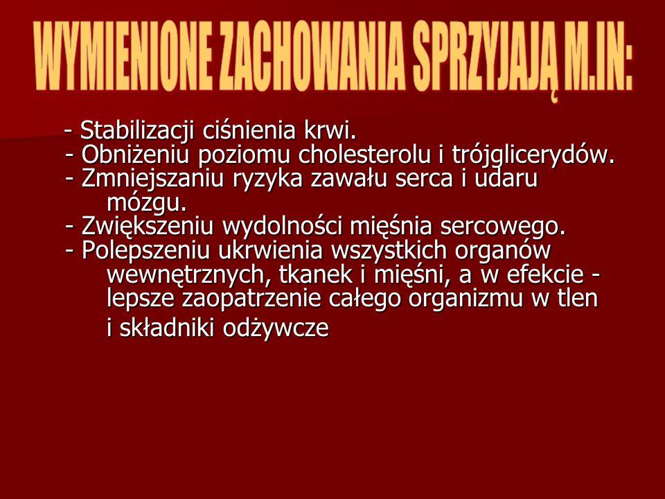 WYMIENIONE ZACHOWANIA SPRZYJAJĄ M.IN: