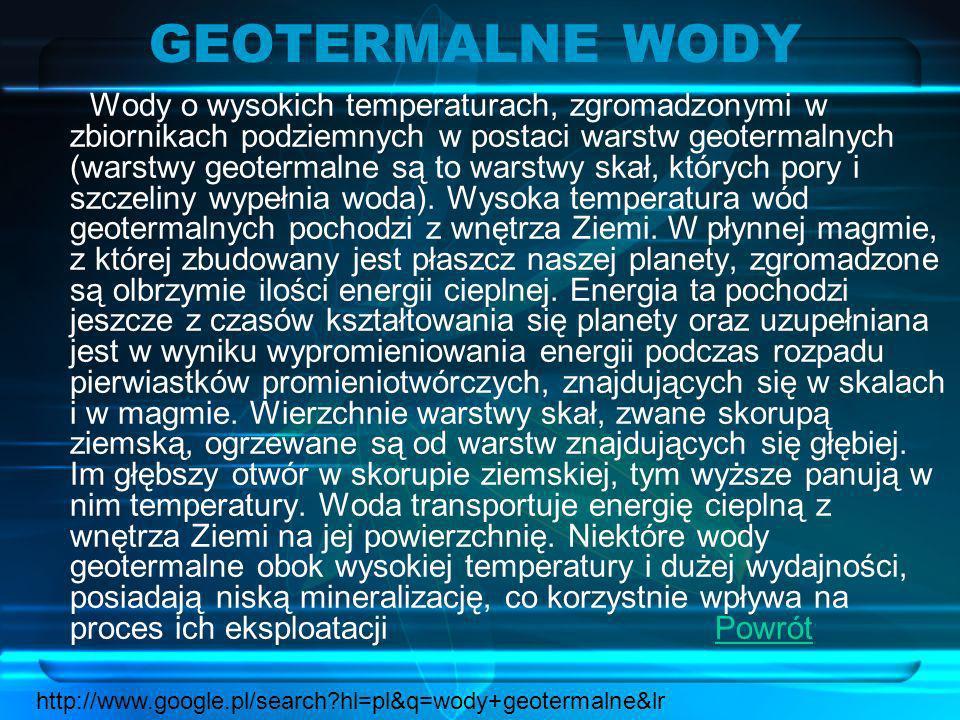 GEOTERMALNE WODY