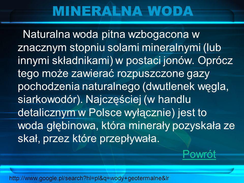 MINERALNA WODA