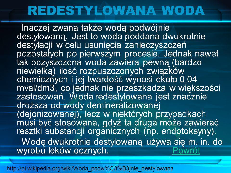 REDESTYLOWANA WODA