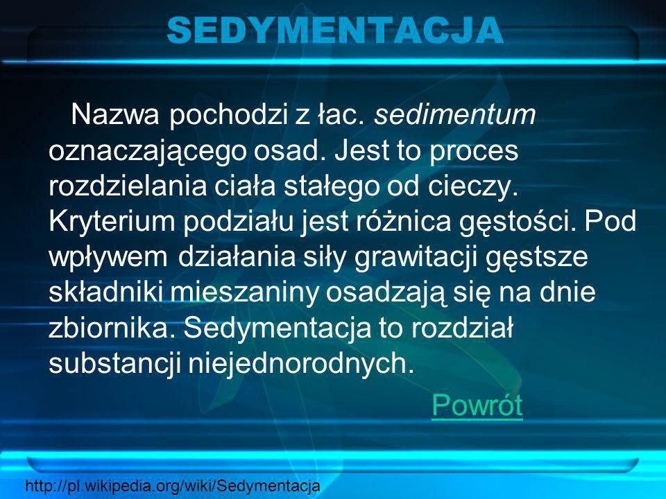 SEDYMENTACJA