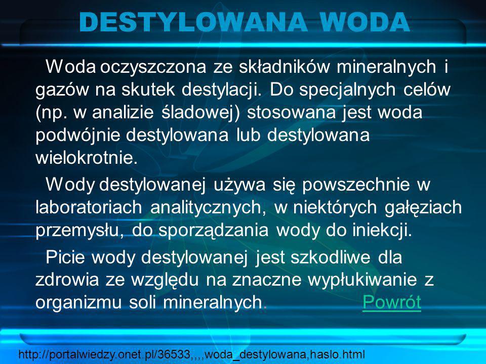 DESTYLOWANA WODA