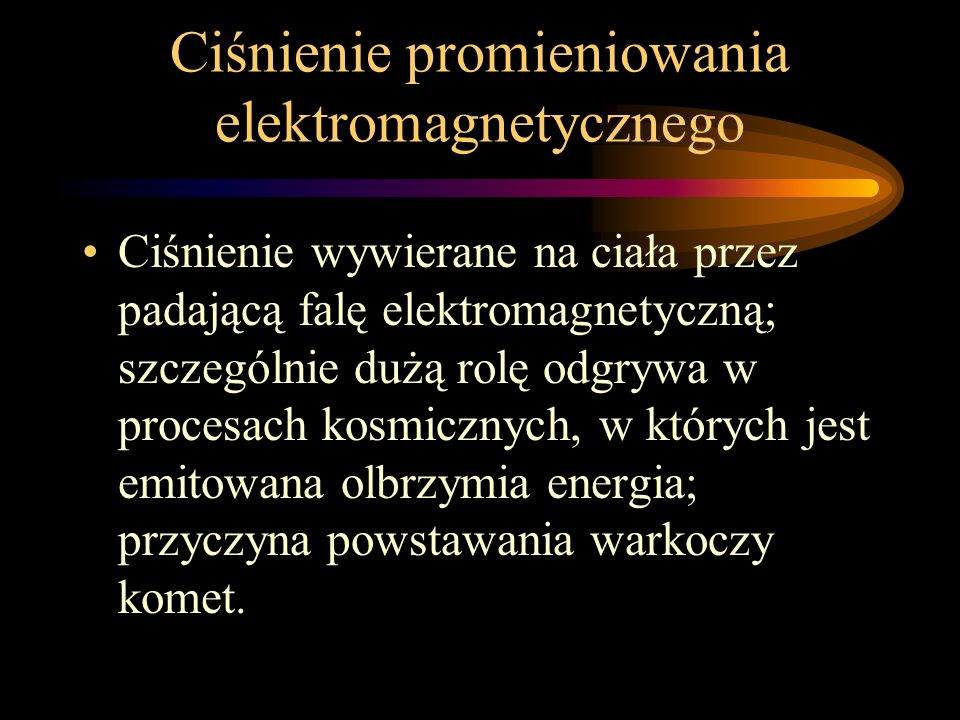 Ciśnienie promieniowania elektromagnetycznego