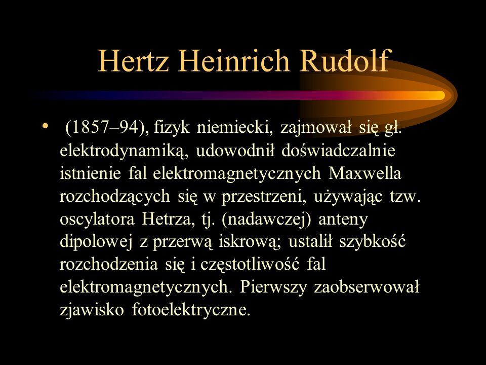 Hertz Heinrich Rudolf