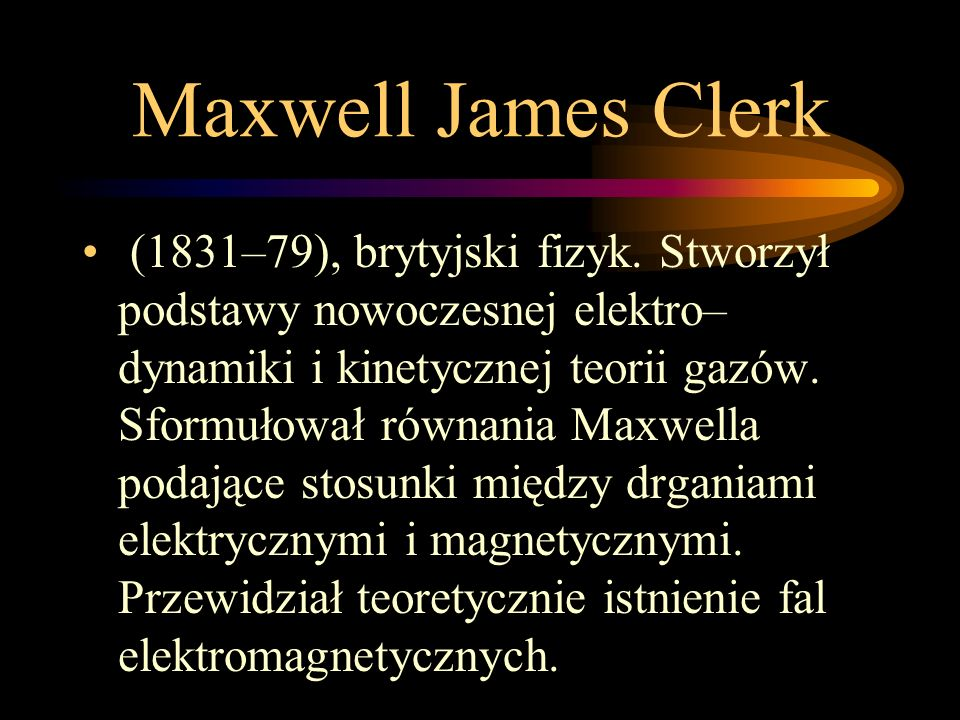 Maxwell James Clerk